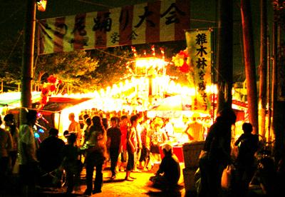 清瀬中里富士山火の花踊り01