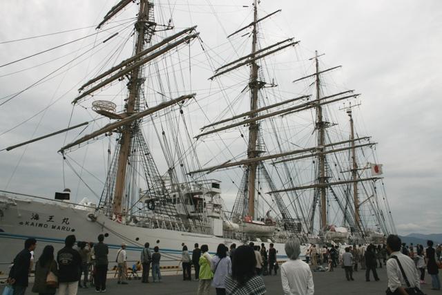 IMG_7147 海王丸 畳帆完了 W
