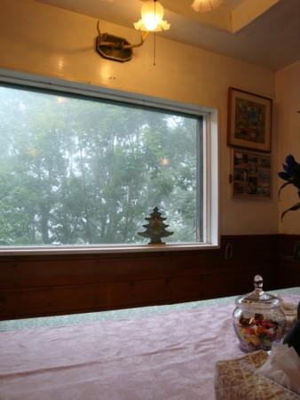 ダイニングの大きな窓からは、外が良く見える。