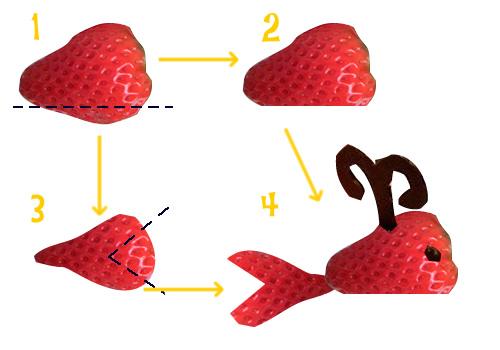 イチゴのクジラの作り方