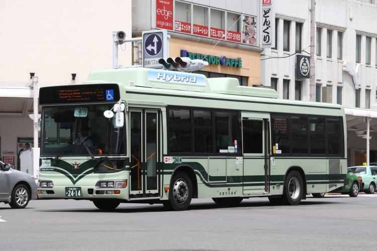 京都市交通局 京都200か2414 日野LJG-HU8JMGP