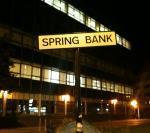 Spring Bankの看板