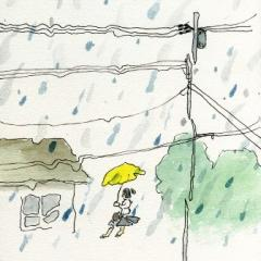 雨フリフリ