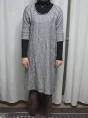 2010.2.24 mali ストライプワンピ①_R