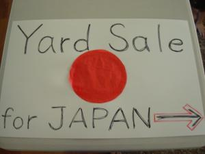 Yard Sale for Japan