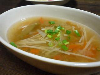 ショウガ入りスープ