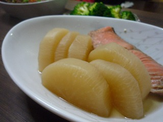 大根と鮭の煮物