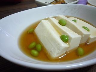 枝豆と豆腐のあんかけ