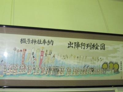 綴子大太鼓   行列の絵図
