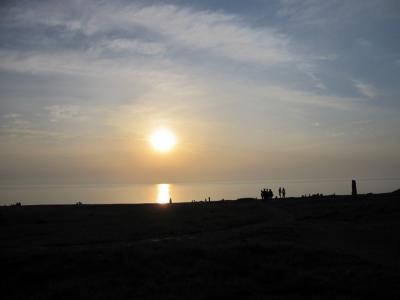 男鹿半島に沈む夕日