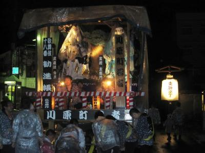 角館のお祭り 昨夜の曳き山