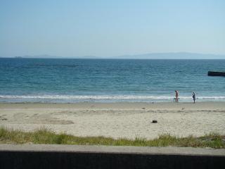 目の前はキレイな海