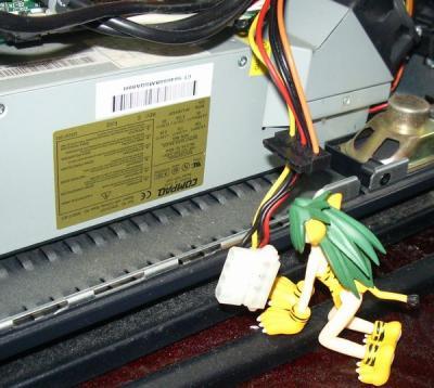 HP d330 ST 内部 電源コネクター