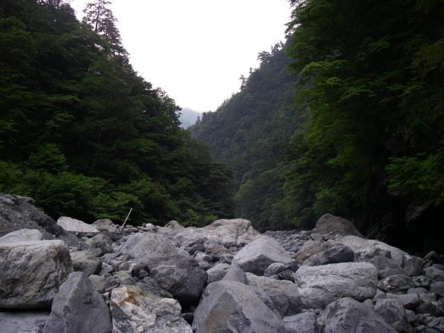 南アルプスー福川遡行(湯折~小渋川~福川~百間洞~赤石岳~椹島H19・8・28~30) 026
