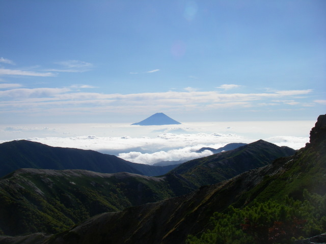 塩見岳~雪投沢~東俣(H19.10.6~8) 071