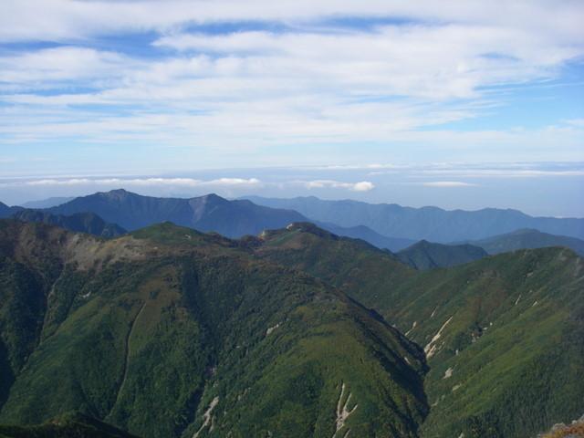 塩見岳~雪投沢~東俣(H19.10.6~8) 074
