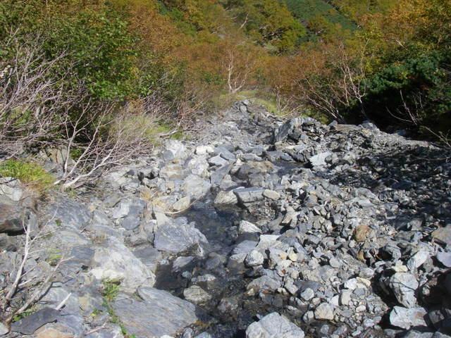塩見岳~雪投沢~東俣(H19.10.6~8) 096