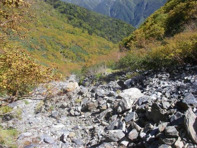 塩見岳~雪投沢~東俣(H19.10.6~8) 093