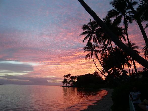 ハワイカイの夕日