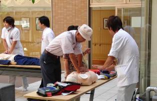 救急の日 土庫病院 看護師 体験 患者