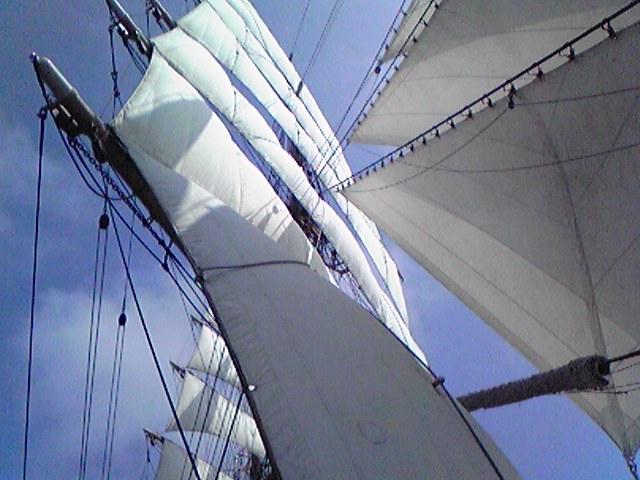 海王丸 展帆