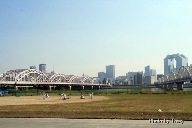 十三大橋とNTT専用橋