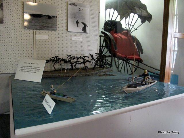 展示品 シジミ漁