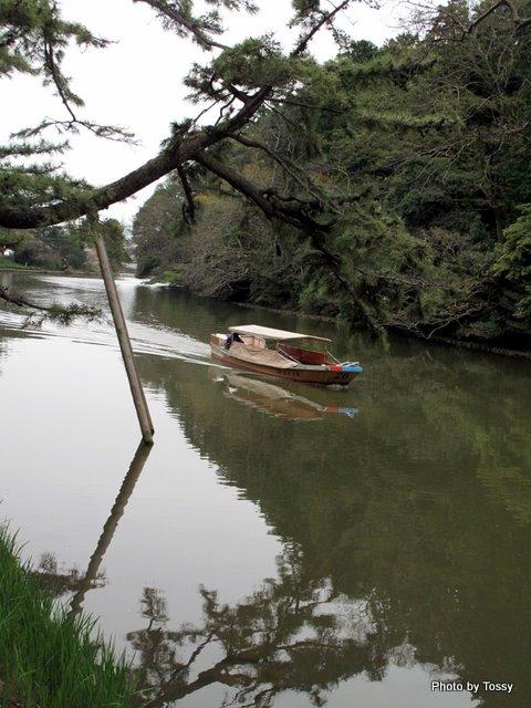 堀川めぐりの小船