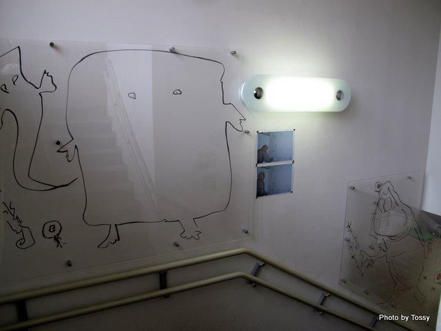階段の落書き
