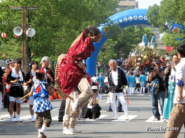 福應神社 獅子と子供5