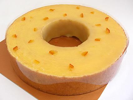 焼き菓子バームクーヘン ねんりん家 ストレートバーム オレンジフォンダンがけ 中身