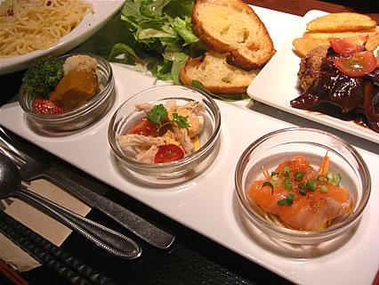 寧々家 弘前駅前店 パスタランチ(前菜)