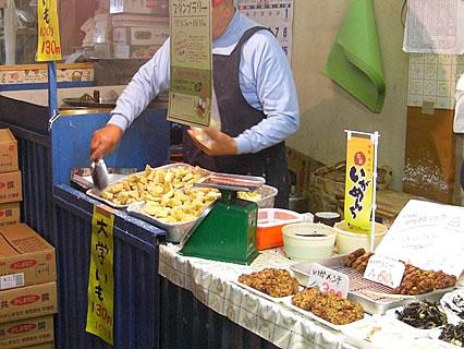 山田商店(弘前市中央食品市場内) 大学いも(100g130円)