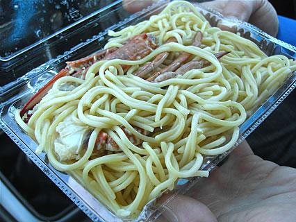2011 津軽の食と産業まつり Pietanza(ピエタンザ) 渡りガニの和風パスタ カニミソ風味 中身