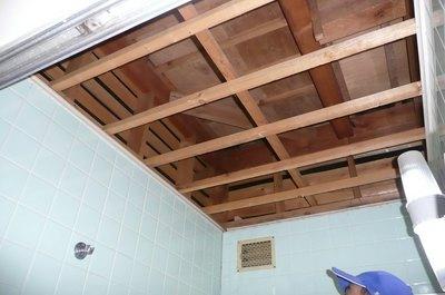 浴室天井工事