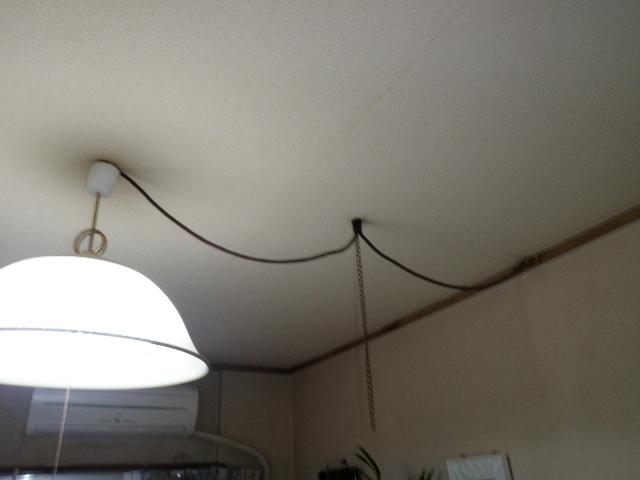照明の線取替
