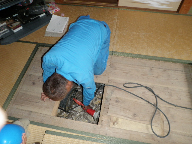 施工後の調査(住宅床下換気工事) 神戸市長田区