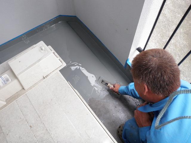 防水i塗装作業