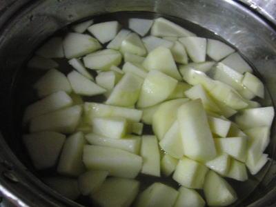 お水・・レモン果汁 そしてりんご