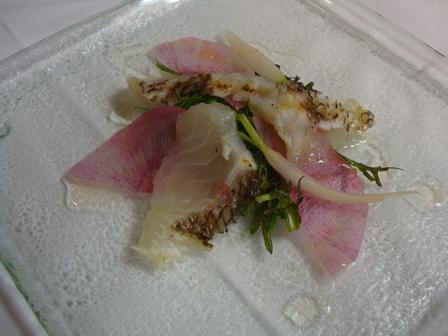 真鯛と冬野菜サラダ