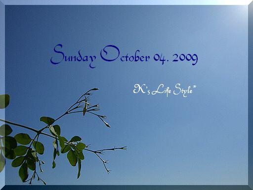 10月4日晴れ