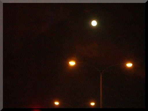 月夜の道路