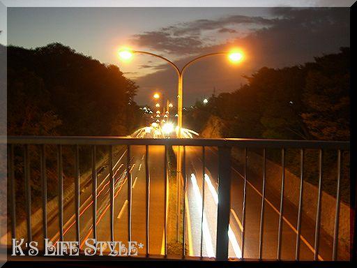 夕方の道路