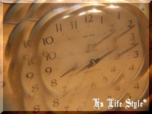 ゆらゆらレンズの時計