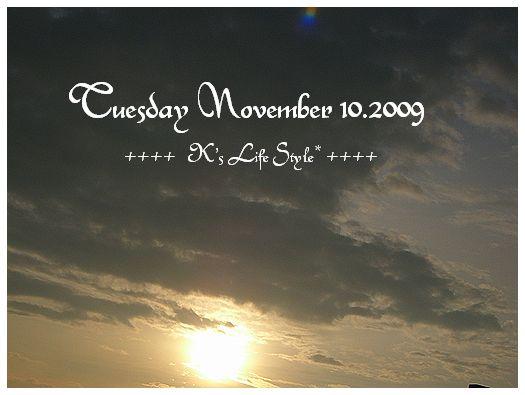 11月10日曇りのち雨.