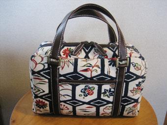 帯生地のバッグ