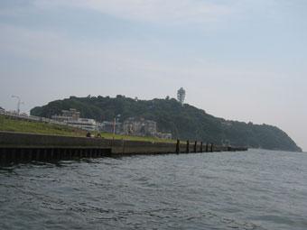 舟からの江ノ島