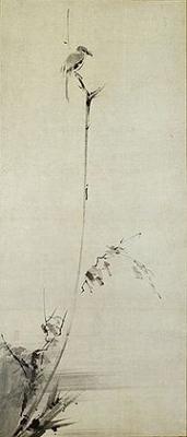 枯木鳴鵙図