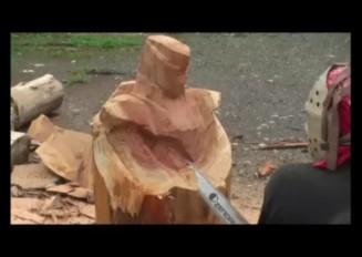 「ジェイソンさん」ワイルドタイガーを彫る!「TIGERBUNNY」