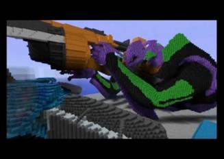 【minecraft】ドットで描くエヴァンゲリオンの世界